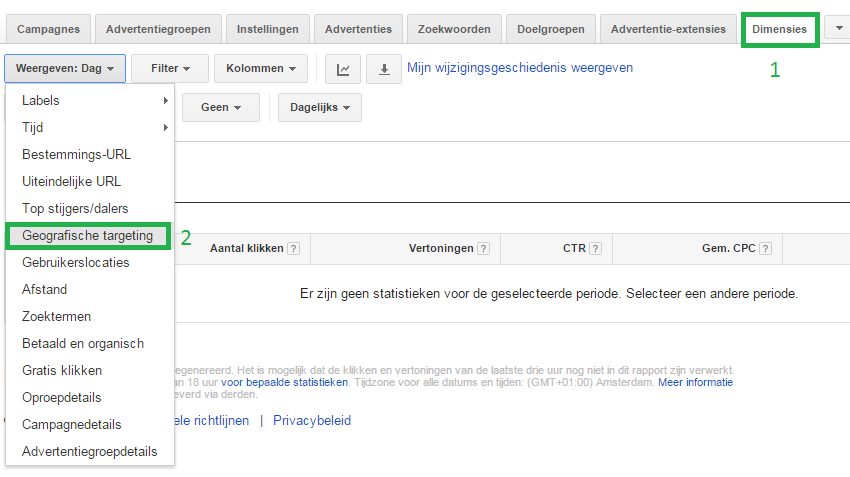 Adwords optimaliseren geografie
