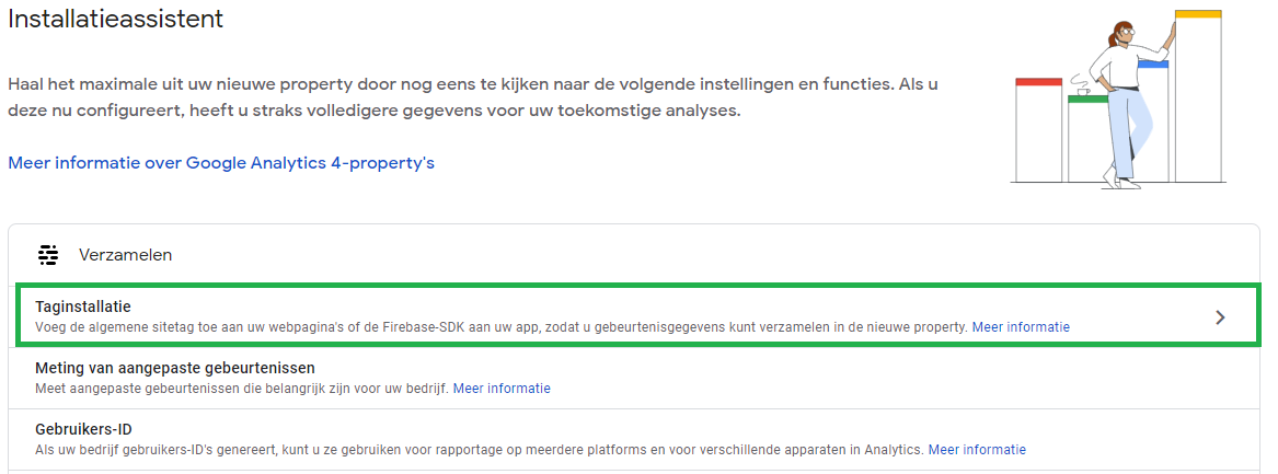 Google Analytics 4 instellen stap 2