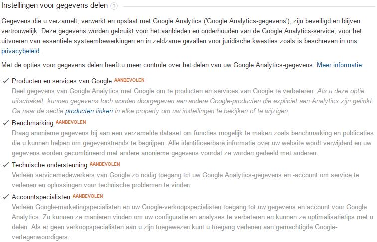 Google Analytics instellen - stap 5