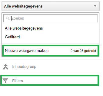 cross-domain-tracking-weergaven-filter